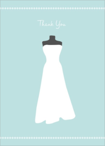 wedding dress thank you note